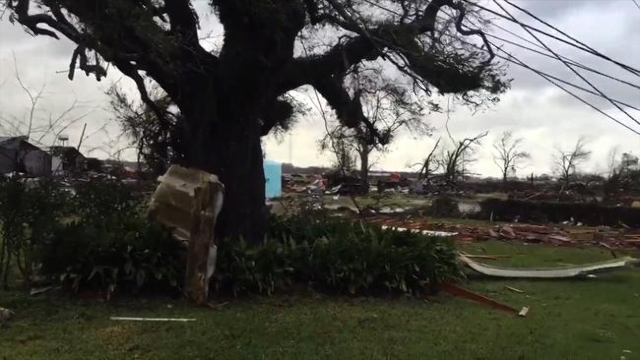 The Assumption Parish Sheriff's Office in Louisiana reported severe damage to businesses in Paincourtville and damage to a home in Belle River. There were no immediate reports of injuries, D ...