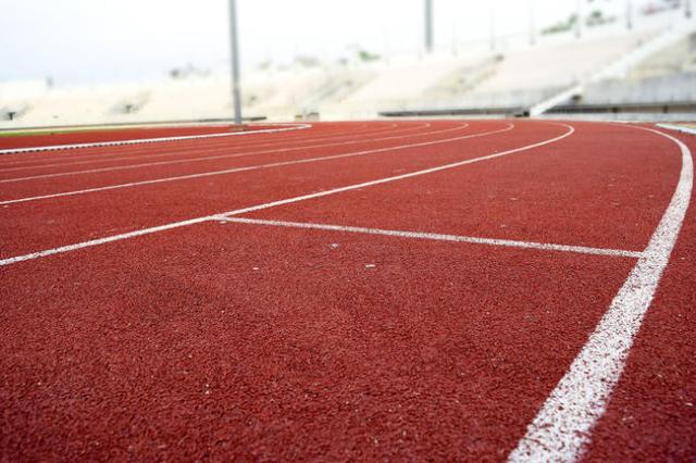 Athletics Stadium Running track curve (Thinkstock)