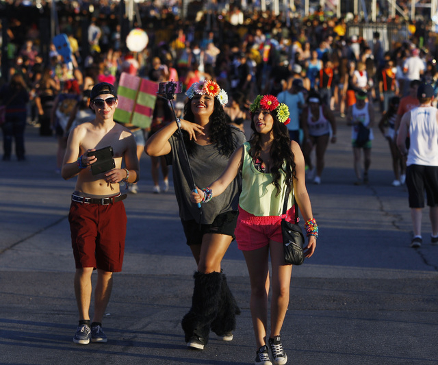 Festival goers arrive for the first night of the Electric Daisy Carnival Friday, June 19, 2015 at the Las Vegas Motor Speedway. (Sam Morris/Las Vegas Review-Journal) Follow Sam Morris on Twitter @ ...