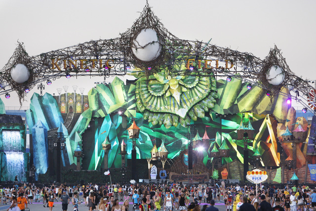 The Kinetic Field stage is seen during the first night of the Electric Daisy Carnival Friday, June 19, 2015 at the Las Vegas Motor Speedway. (Sam Morris/Las Vegas Review-Journal) Follow Sam Morris ...