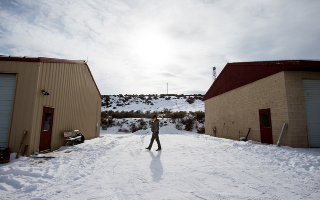 Ryan Bundy takes a phone call at the Malheur National Wildlife Refuge headquarters, which is occupied by anti-government protestors, near Burns, Ore. on Monday, Jan. 4, 2016. Chase Stevens/Las Veg ...