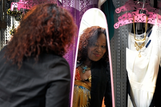 Cheryl Banks poses in her boutique, CR Fashionz, at the Tropicana Discount Mall Monday, Jan. 11, 2016, in Las Vegas. David Becker/Las Vegas Review-Journal