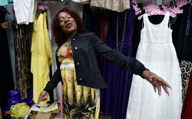 Cheryl Banks dances through in her boutique, CR Fashionz, at the Tropicana Discount Mall Monday, Jan. 11, 2016, in Las Vegas. David Becker/Las Vegas Review-Journal