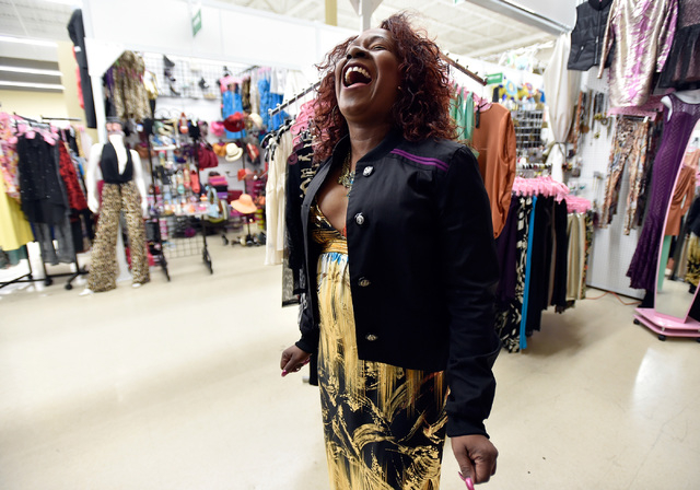 Cheryl Banks finds time to laugh between customers in her boutique, CR Fashionz, at the Tropicana Discount Mall Monday, Jan. 11, 2016, in Las Vegas. David Becker/Las Vegas Review-Journal