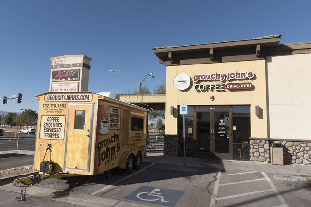 Grouchy John's Coffee is shown at 8520 S. Maryland Parkway Feb. 5. Jason Ogulnik/Las Vegas Review-Journal