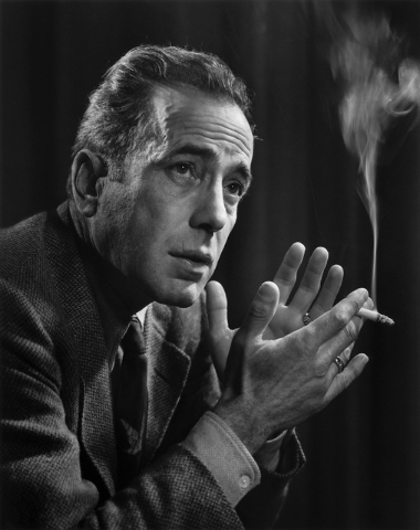 Legendary movie tough guy Humphrey Bogart, photographed by Yousuf Karsh in 1946. COURTESY BELLAGIO GALLERY OF FINE ART