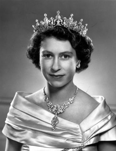Britain's future Queen Elizabeth II, when she was still Princess Elizabeth, as photographed in 1951 by Yousuf Karsh. (Courtesy/Bellagio Gallery of Fine Art)