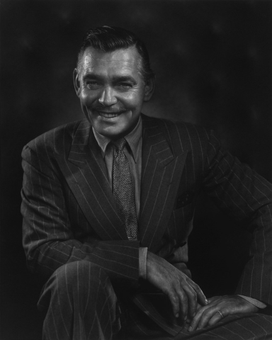 """""""King of Hollywood"""" Clark Gable, captured in 1948 by photographer Yousuf Karsh. (Courtesy/Bellagio Gallery of Fine Art)"""