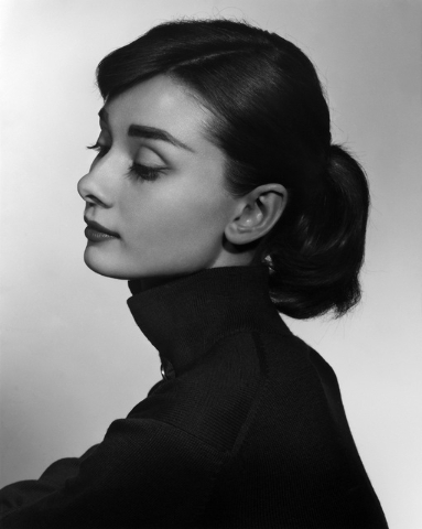 Audrey Hepburn, 1956, as photographed by Yousuf Karsh. (Courtesy/Bellagio Gallery of Fine Art)