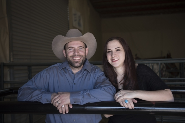Paul Rogers,left, and Stephanie Rogers, co-owners of Paradise Ranch poses in the ranch's arena at 1722 Primrose Path in Las Vegas Saturday, Feb. 13, 2016. Jason Ogulnik/Las Vegas Review-Journal