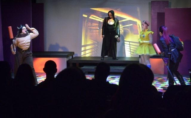 """Cast members from """"Geek!"""" perform at the Onyx Theatre, 953 E. Sahara Ave., Feb. 19. Producing artistic director Troy Heard said audience numbers vary from show to show at the venue. Bill Hughe ..."""