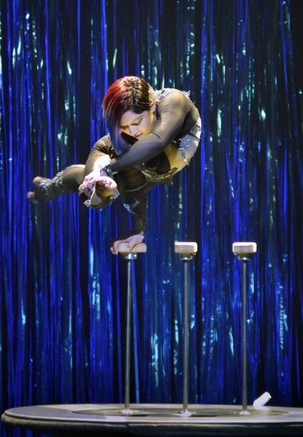 """Sasha Pivaral performs in """"Twisted Vegas"""" at the Westgate Las Vegas hotel-casino at 3000 Paradise Road on Thursday, Feb. 18, 2016. Bill Hughes/Las Vegas Review-Journal"""