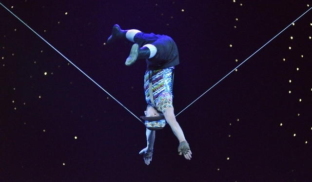 "Evgeny Vasilenko performs in ""Twisted Vegas"" at the Westgate Las Vegas hotel-casino at 3000 Paradise Road on Thursday, Feb. 18, 2016. Bill Hughes/Las Vegas Review-Journal"