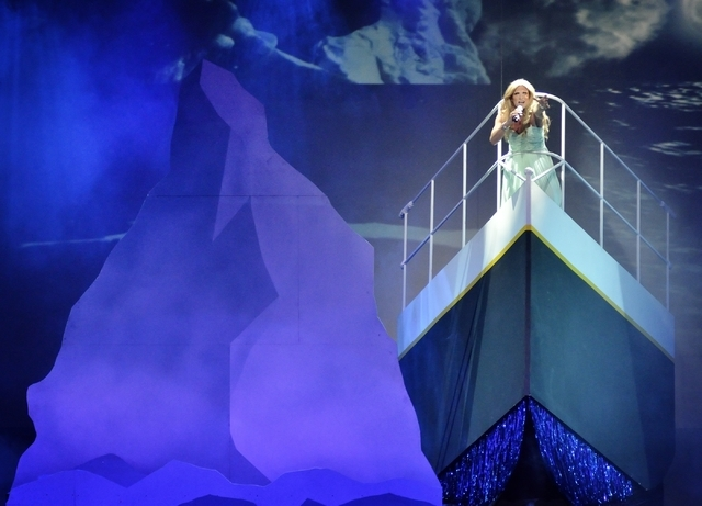 """Costic performs as Celine Dion in """"Twisted Vegas"""" at the Westgate Las Vegas hotel-casino at 3000 Paradise Road on Thursday, Feb. 18, 2016. Bill Hughes/Las Vegas Review-Journal"""