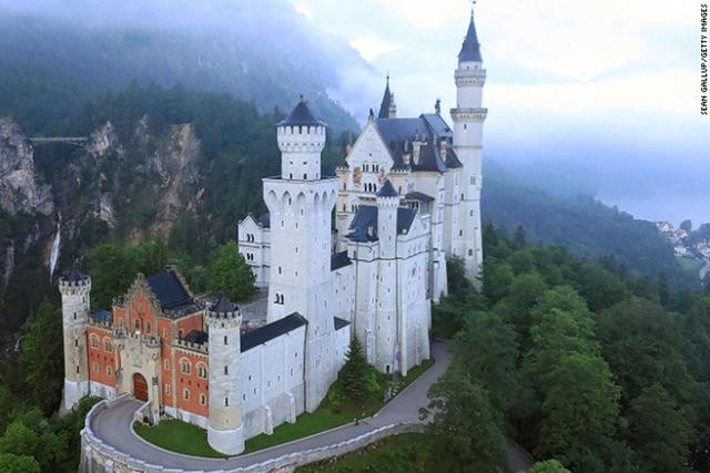 Neuschwanstein in Bavaria, allegedly an inspiration for Disney's castle. (Sean Gallup/Getty Images)