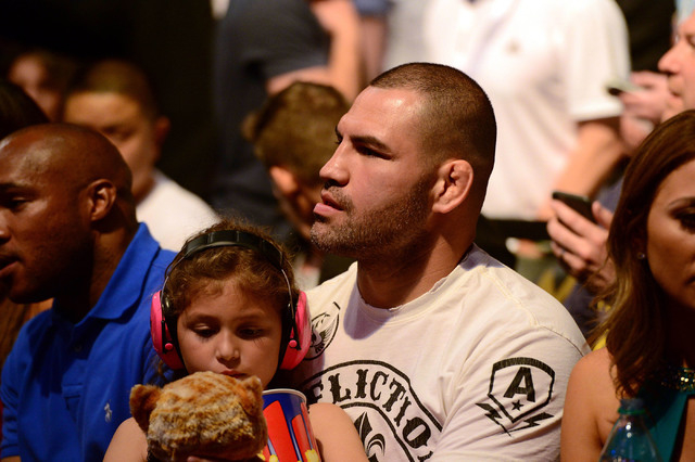 Cain Velasquez attends the Anthony Johnson and Daniel Cormier light heavyweight championship bout during UFC 187 at MGM Grand Garden Arena on May 23, 2015. (Joe Camporeale/USA Today Sports)