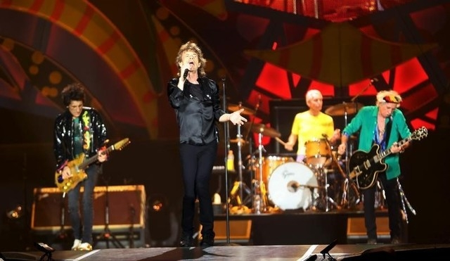 """British veteran rockers The Rolling Stones' singer Mick Jagger sings during a concert on their """"Latin America Ole Tour"""" at Morumbi stadium in Sao Paulo, Brazil, Feb. 27, 2016. (Paulo Whitaker/Reuters)"""