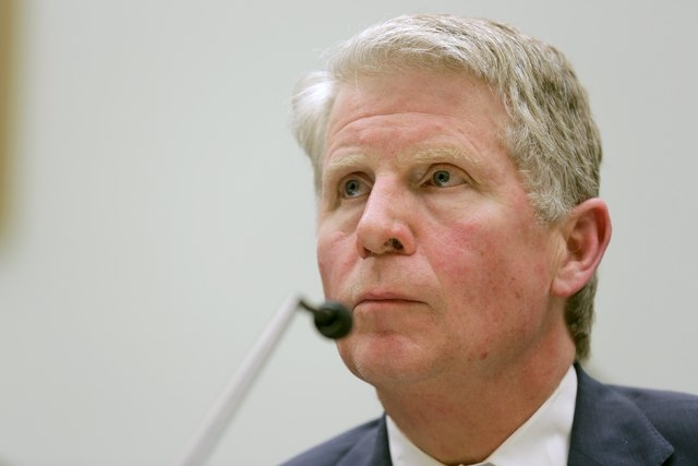 """Manhattan District Attorney Cyrus R. Vance, Jr. testifies to the House Judiciary hearing on """"The Encryption Tightrope: Balancing Americans' Security and Privacy"""" on Capitol Hill in Washington, Mar ..."""