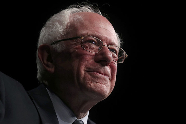 Democratic U.S. presidential candidate Senator Bernie Sanders pauses as he speaks to supporters on the night of the Michigan, Mississippi and other primaries at his campaign rally in Miami, Florid ...