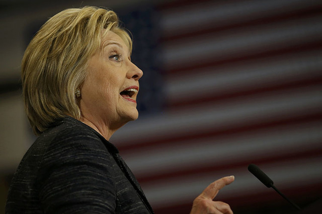Democratic U.S. presidential candidate Hillary Clinton speaks to supporters about the primary voting results in Michigan and other states at her campaign rally in Cleveland, Ohio, March 8, 2016.   ...