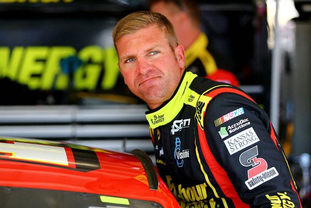 Mar 12, 2016; Avondale, AZ, USA; NASCAR Sprint Cup Series driver Clint Bowyer during practice for the Good Sam 500 at Phoenix International Raceway. (Mark J. Rebilas/USA Today Sports)
