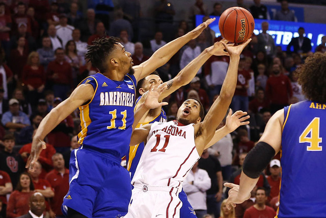 check out b8adf a1500 Oklahoma advances with 82-68 win over CSU Bakersfield | Las ...