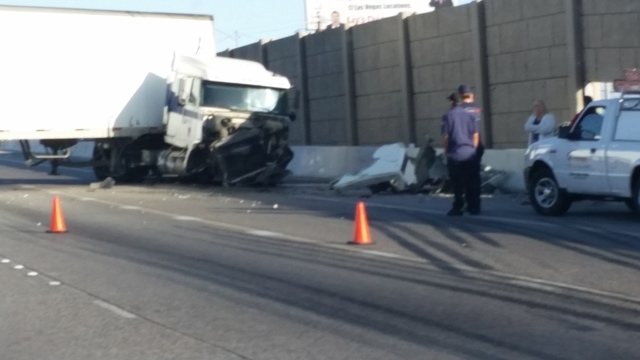 Northbound US 95 near Boulder Highway reopens after truck crash