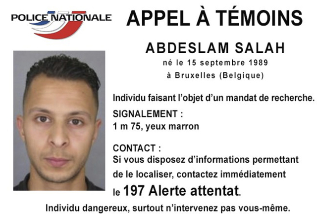 This undated file photo released Friday, Nov. 13, 2015, by French Police shows 26-year old Salah Abdeslam, who is wanted by police in connection with recent terror attacks in Paris, as police inve ...