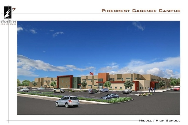 The new campus of Pinecrest Academy is shown in a rendering. (Courtesy Ethos Three Architecture)