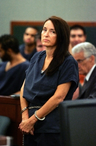 Construction defects attorney Nancy Quon appears in Clark County District Court on Aug. 18, 2011, during a bail hearing before District Judge Michelle Leavitt.