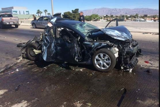 Two in critical condition after five-car crash | Las Vegas