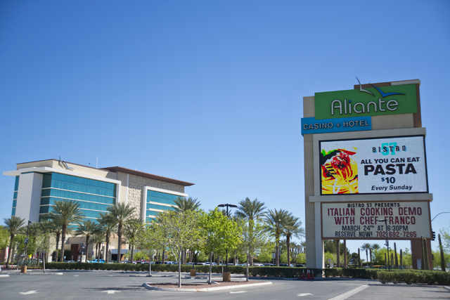 The Aliante Hotel awaits visitors at 7300 N. Aliante Pkwy. in North Las Vegas on Thursday, March 10, 2016. Daniel Clark/Las Vegas Review-Journal Follow @DanJClarkPhoto