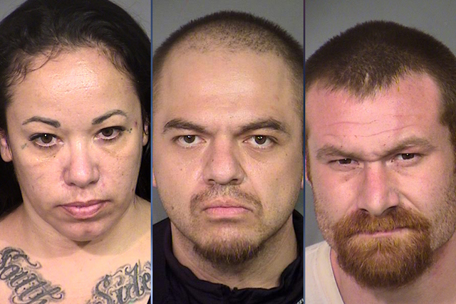 Fabiola Jimenez, Luis Castro and Edward Honabach were booked into the Clark County Detention Center on Thursday and Friday to face eight charges — attempted murder, conspiracy to commit murder,  ...