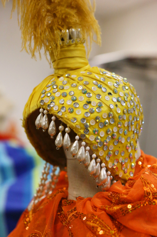 A headdress is shown in a fashion design department workroom at Del Sol Academy of the Performing Arts Thursday, Feb. 11, 2016, in Las Vegas. Ronda Churchill/Las Vegas Review-Journal