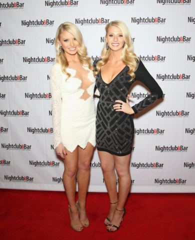 """Bachelor"" Twins Emily (left) and Haley Ferguson at the 2016 Nightclub & Bar Show Convention and Trade Show at the Las Vegas Convention Center. (Courtesy Getty Images for Nightclub & Bar)"