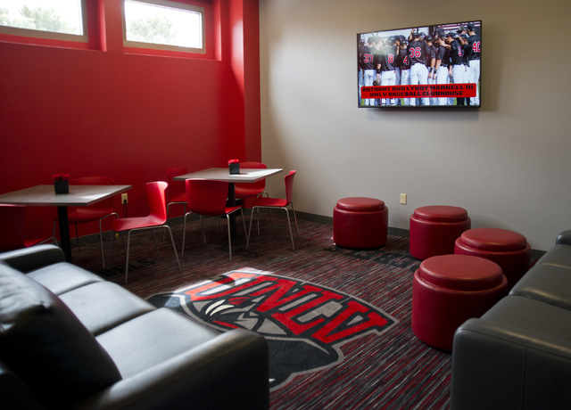 A lounge area is seen during a ribbon cutting ceremony for the new Anthony and Lyndy Marnell III Baseball Clubhouse on the UNLV campus on Monday, March 7, 2016. Daniel Clark/Las Vegas Review-Journ ...