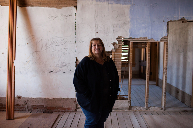 Donna Motis stands in the Recorder's Office of the Belmont Courthouse in Belmont, Nev., on Wednesday, March 2, 2016. The courthouse was built in 1876. Randi Lynn Beach/Las Vegas Review-Journal