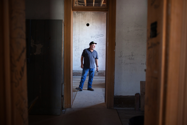 Rick Motis stands in the Treasurer's Office of the Belmont Courthouse in Belmont, Nev., on Wednesday, March 2, 2016. The courthouse was built in 1876. Randi Lynn Beach/Las Vegas Review-Journal