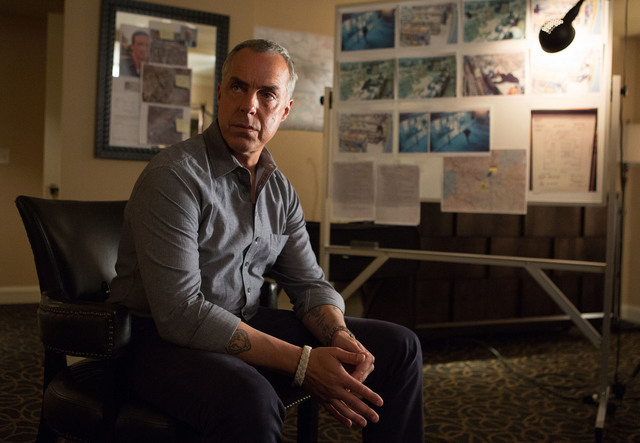 Detective Harry Bosch (Titus Welliver) formulates a strategy while in the midst of his investigation.  (Amazon Studios)