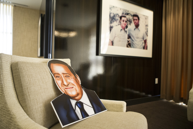 A rendering of Bob Arum, founder and CEO of Top Rank boxing promotions, is seen inside his office on Wednesday, March 23, 2016, in Las Vegas. Erik Verduzco/Las Vegas Review-Journal Follow @Erik_Ve ...