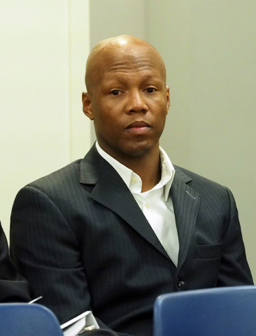 Zab Judah watches during a disciplinary hearing by the Nevada Athletic Commission concerning boxer Zab Judah and promoter Roy Englebrecht at the Sawyer State Office Building in Las Vegas, Wednesda ...
