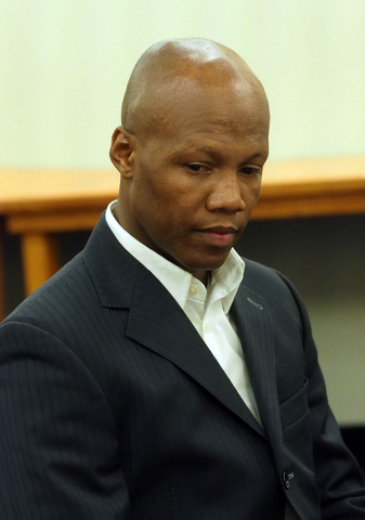 Boxer Zab Judah gives testimony during a disciplinary hearing by the Nevada Athletic Commission concerning boxer Zab Judah and promoter Roy Englebrecht at the Sawyer State Office Building in Las V ...