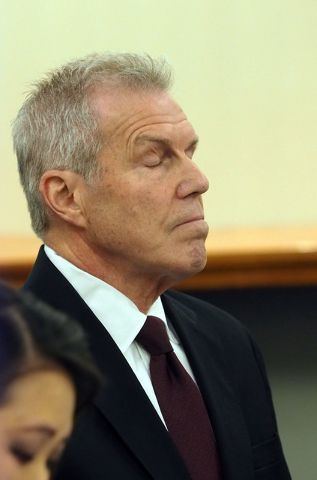 Roy Englebrecht listens as evidence is presented during a disciplinary hearing by the Nevada Athletic Commission concerning boxer Zab Judah and promoter Roy Englebrecht at the Sawyer State Office  ...