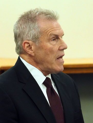 Roy Englebrecht speaks during a disciplinary hearing by the Nevada Athletic Commission concerning boxer Zab Judah and promoter Roy Englebrecht at the Sawyer State Office Building in Las Vegas, Wed ...