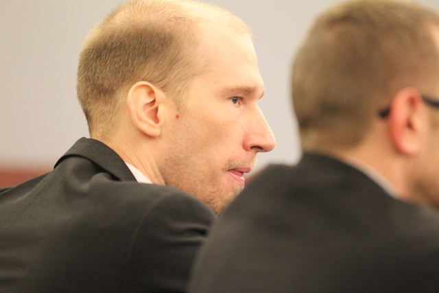 Jason Lofthouse looks on during his trial in Las Vegas on Friday, March 25, 2016. A jury in Las Vegas swiftly delivered a guilty verdict Friday against Lofthouse on Friday. (Brett Le Blanc/Las Veg ...
