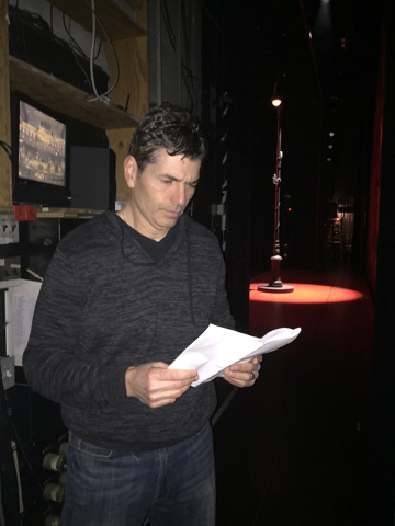 """Joe Barbara reads the script for """"A Bronx Tale: The Musical"""" March 1 at the Paper Mill Playhouse in Millburn, N.J. The Las Vegan said he couldn't pass up the chance to work on the show and t ..."""