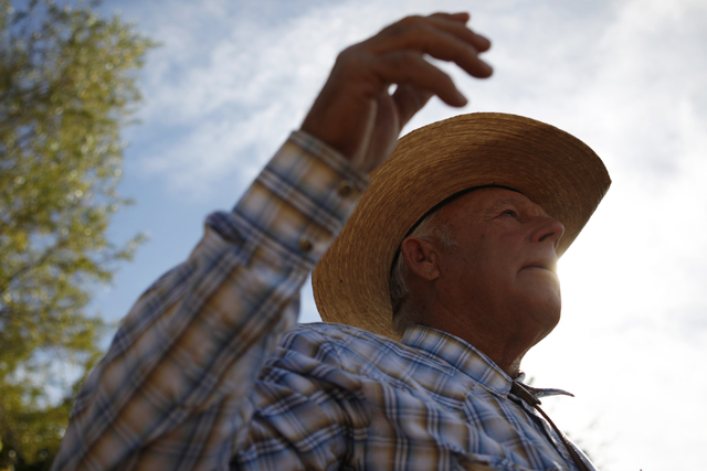 Cliven Bundy is interviewed at his home in Bunkerville, Nev., Wednesday, Oct. 29, 2014. (Erik Verduzco/Las Vegas Review-Journal)