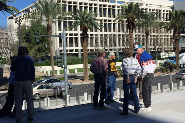 """Bundy supporters waiting to see what happens. Came early in case they move up the hearing."" (@WesJuhl via Twitter)"
