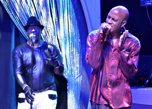 Willie Morris, left, and Tomi Jenkins of Cameo perform at the Westgate Las Vegas hotel-casino at 3000 Paradise Road on Thursday, March 10, 2016. Bill Hughes/Las Vegas Review-Journal