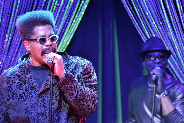 Larry Blackmon, left, and Willie Morris of Cameo perform at the Westgate Las Vegas hotel-casino at 3000 Paradise Road on Thursday, March 10, 2016. Bill Hughes/Las Vegas Review-Journal
